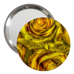 Gorgeous Roses, Yellow  3  Handbag Mirrors