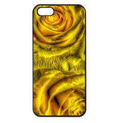 Gorgeous Roses, Yellow  Apple iPhone 5 Seamless Case (Black)
