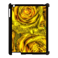 Gorgeous Roses, Yellow  Apple iPad 3/4 Case (Black)