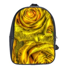 Gorgeous Roses, Yellow  School Bags (xl)