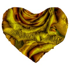 Gorgeous Roses, Yellow  Large 19  Premium Heart Shape Cushions