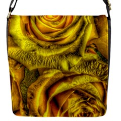 Gorgeous Roses, Yellow  Flap Messenger Bag (S)