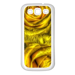 Gorgeous Roses, Yellow  Samsung Galaxy S3 Back Case (White)