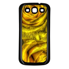 Gorgeous Roses, Yellow  Samsung Galaxy S3 Back Case (Black)