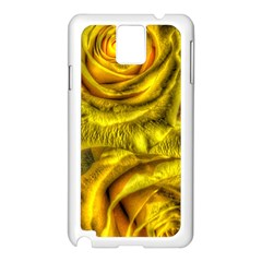 Gorgeous Roses, Yellow  Samsung Galaxy Note 3 N9005 Case (White)