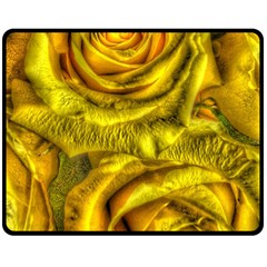Gorgeous Roses, Yellow  Double Sided Fleece Blanket (Medium)