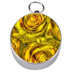Gorgeous Roses, Yellow  Silver Compasses