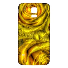 Gorgeous Roses, Yellow  Samsung Galaxy S5 Back Case (White)