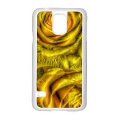 Gorgeous Roses, Yellow  Samsung Galaxy S5 Case (White)