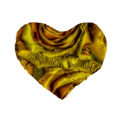 Gorgeous Roses, Yellow  Standard 16  Premium Flano Heart Shape Cushions