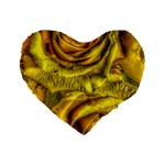 Gorgeous Roses, Yellow  Standard 16  Premium Flano Heart Shape Cushions Front