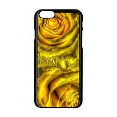 Gorgeous Roses, Yellow  Apple iPhone 6 Black Enamel Case