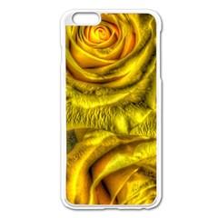 Gorgeous Roses, Yellow  Apple iPhone 6 Plus Enamel White Case