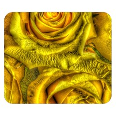 Gorgeous Roses, Yellow  Double Sided Flano Blanket (Small)