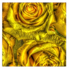 Gorgeous Roses, Yellow  Large Satin Scarf (Square)