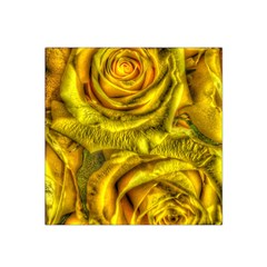 Gorgeous Roses, Yellow  Satin Bandana Scarf