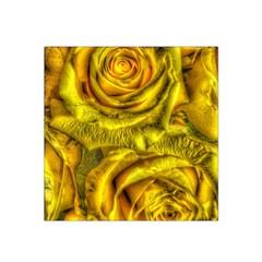 Gorgeous Roses, Yellow  Satin Bandana Scarf