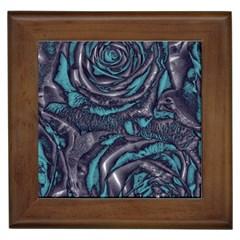 Gorgeous Roses, Aqua Framed Tiles