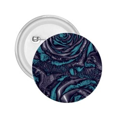 Gorgeous Roses, Aqua 2.25  Buttons