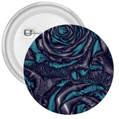 Gorgeous Roses, Aqua 3  Buttons
