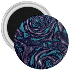 Gorgeous Roses, Aqua 3  Magnets