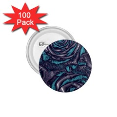 Gorgeous Roses, Aqua 1 75  Buttons (100 Pack)