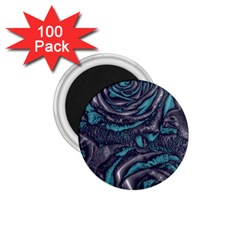 Gorgeous Roses, Aqua 1.75  Magnets (100 pack)