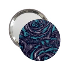 Gorgeous Roses, Aqua 2.25  Handbag Mirrors