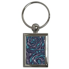 Gorgeous Roses, Aqua Key Chains (rectangle)