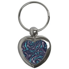 Gorgeous Roses, Aqua Key Chains (Heart)