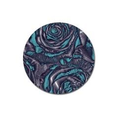 Gorgeous Roses, Aqua Magnet 3  (Round)
