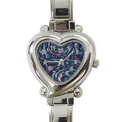 Gorgeous Roses, Aqua Heart Italian Charm Watch