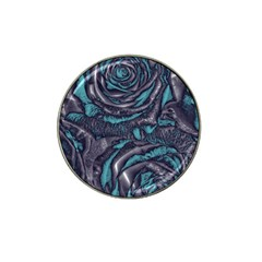Gorgeous Roses, Aqua Hat Clip Ball Marker (4 Pack)
