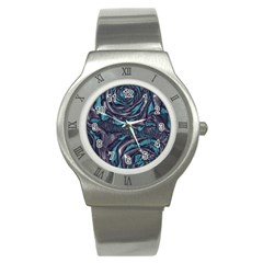 Gorgeous Roses, Aqua Stainless Steel Watches
