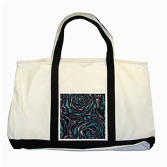 Gorgeous Roses, Aqua Two Tone Tote Bag