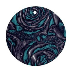 Gorgeous Roses, Aqua Round Ornament (Two Sides)