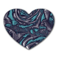 Gorgeous Roses, Aqua Heart Mousepads
