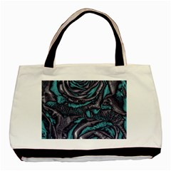 Gorgeous Roses, Aqua Basic Tote Bag (Two Sides)