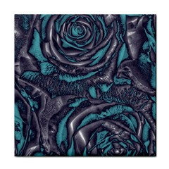 Gorgeous Roses, Aqua Face Towel