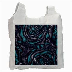 Gorgeous Roses, Aqua Recycle Bag (One Side)