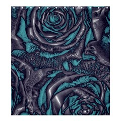 Gorgeous Roses, Aqua Shower Curtain 66  X 72  (large)