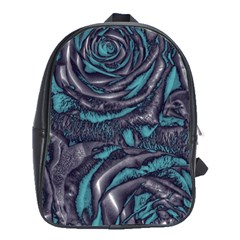 Gorgeous Roses, Aqua School Bags(Large)