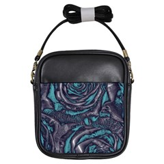 Gorgeous Roses, Aqua Girls Sling Bags