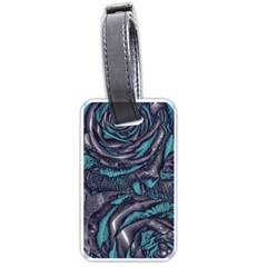 Gorgeous Roses, Aqua Luggage Tags (One Side)
