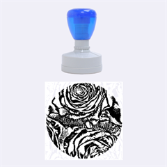 Gorgeous Roses, Aqua Rubber Round Stamps (medium)