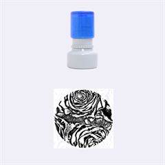 Gorgeous Roses, Aqua Rubber Round Stamps (Small)