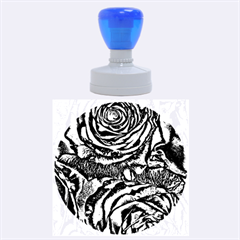 Gorgeous Roses, Aqua Rubber Round Stamps (large)
