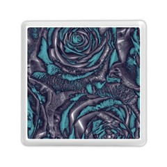 Gorgeous Roses, Aqua Memory Card Reader (Square)