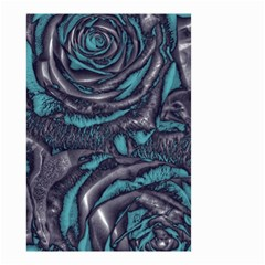 Gorgeous Roses, Aqua Small Garden Flag (Two Sides)