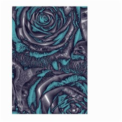 Gorgeous Roses, Aqua Large Garden Flag (Two Sides)